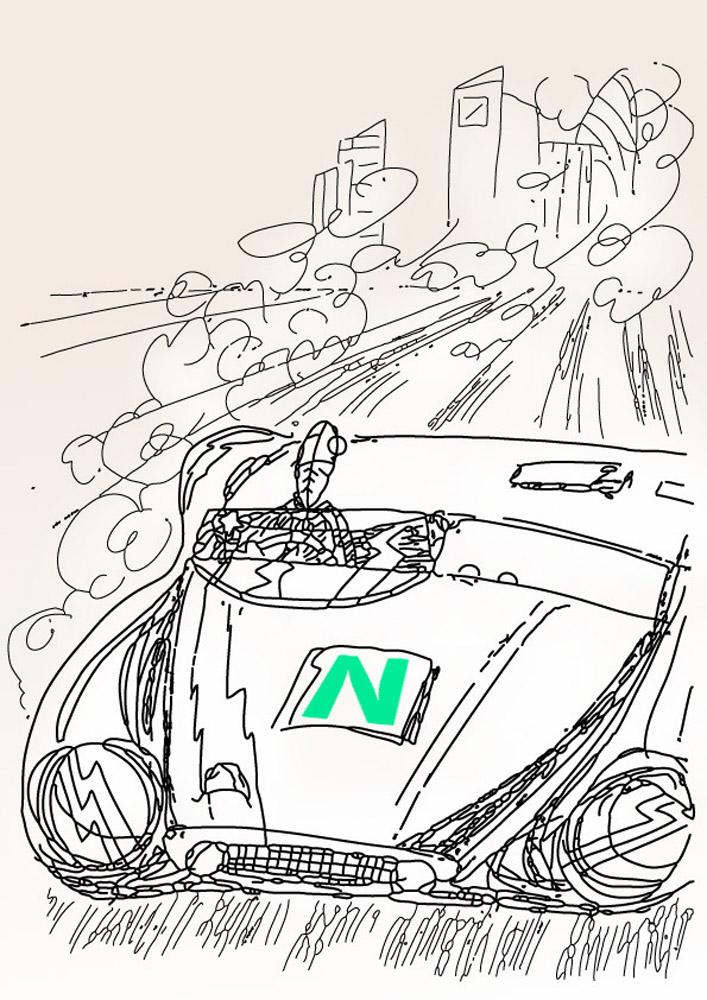 N schießt los/ c-drawing/ 2014